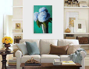 """Blue Hydrangeas"" print by Thomas Andrew - ThomasAndrewArtwork"