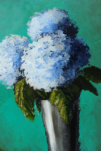 """Blue Hydrangeas"" Giclee canvas print by Thomas Andrew - Thomasandrewartwork"