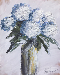 """Blue Hydrangea #2"" Giclee canvas print by Thomas Andrew - Thomasandrewartwork"