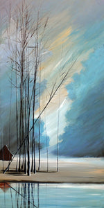 """Blue Naked Trees"" Giclee canvas print by Thomas Andrew - Thomasandrewartwork"