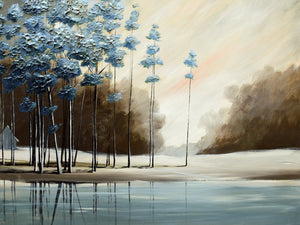 """Blue Trees"" Giclee canvas print by Thomas Andrew - Thomasandrewartwork"