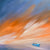 """Blue Boat Sunset"" Giclee canvas print by Thomas Andrew - Thomasandrewartwork"