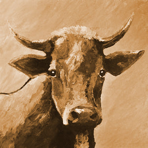 """Sweet Eyes"" sepia / Giclee canvas print by Thomas Andrew - Thomasandrewartwork"
