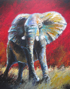 """Dynasty"" (Elephant series) - Signed print by Thomas Andrew - Thomasandrewartwork"