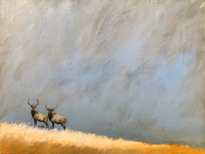 """Elk Together in the Wild"" series #1 / print by Thomas Andrew - Thomasandrewartwork"
