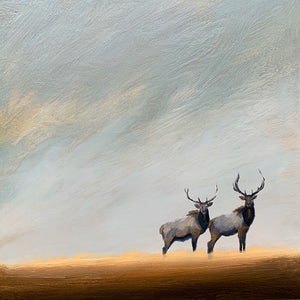 """Elk Together in the Wild"" series #4  / print by Thomas Andrew - Thomasandrewartwork"