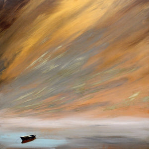 """Golden Sunset"" Giclee canvas print by Thomas Andrew - Thomasandrewartwork"