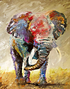 """Hear the Thunder"" (Elephant series) - Signed print by Thomas Andrew - Thomasandrewartwork"