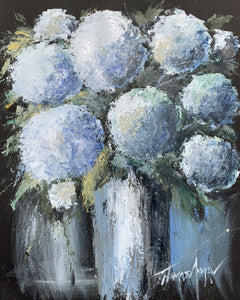 """Hydrangeas Design 01"" Giclee canvas print by Thomas Andrew - Thomasandrewartwork"