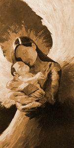 """In the Arms #2"" sepia / Giclee canvas print by Thomas Andrew - Thomasandrewartwork"
