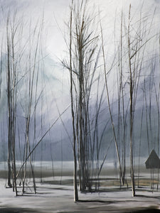 """In the Sticks"" Blue / Giclee canvas print by Thomas Andrew - ThomasAndrewArtwork"
