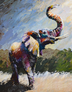 """Into the Light of Victory"" (Elephant series) - Signed print by Thomas Andrew - Thomasandrewartwork"