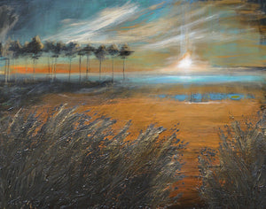 """Last Light at Eventide"" Giclee canvas print by Thomas Andrew - Thomasandrewartwork"