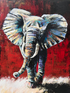"""Here We Come Again"" (Elephant series) - Signed print by Thomas Andrew - Thomasandrewartwork"