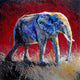 """Marching into the Light"" /Red (Elephant series) - Signed print by Thomas Andrew - Thomasandrewartwork"