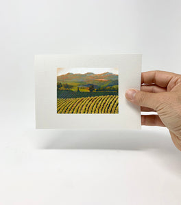 "5 x 7 Miniature / ""Wine Country #5"" by Thomas Andrew - Thomasandrewartwork"