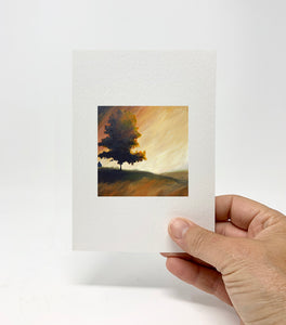 "5 x 7 Miniature / ""End of the Day"" by Thomas Andrew - Thomasandrewartwork"