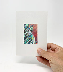 "5 x 7 Miniature / ""Let Freedom Ring"" by Thomas Andrew - Thomasandrewartwork"
