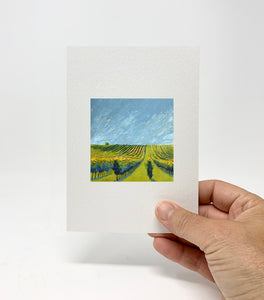 "5 x 7 Miniature / ""Wine Country #10"" by Thomas Andrew - Thomasandrewartwork"