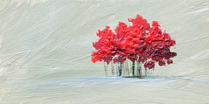 """Red Cluster"" series #1 / Giclee canvas print by Thomas Andrew - Thomasandrewartwork"