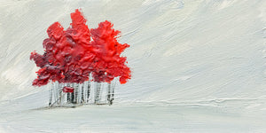 """Red Cluster"" series #2 / Giclee canvas print by Thomas Andrew - ThomasAndrewArtwork"