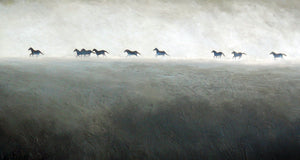 """Misty Morning Run"" Giclee canvas print by Thomas Andrew - ThomasAndrewArtwork"
