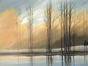 """Naked Trees #4"" Giclee canvas print by Thomas Andrew - Thomasandrewartwork"