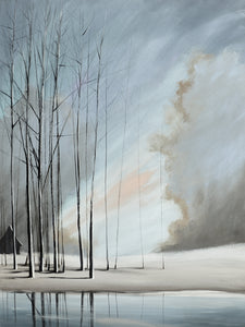 """Naked Trees in Blue"" Rustic / Giclee canvas print by Thomas Andrew - Thomasandrewartwork"