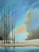 """Naked Trees in Blue"" Giclee canvas print by Thomas Andrew - ThomasAndrewArtwork"