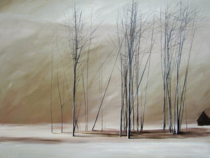 """Naked Trees on a Blanket of White"" Giclee canvas print by Thomas Andrew - Thomasandrewartwork"