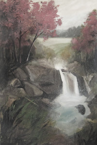 """Our Waterfall"" Desat / Giclee canvas print by Thomas Andrew - Thomasandrewartwork"