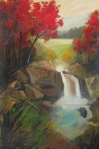 """Our Waterfall"" Giclee canvas print by Thomas Andrew - Thomasandrewartwork"