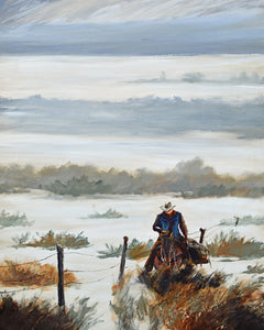 """Out Riding Fences"" series 01 / Print by Thomas Andrew - Thomasandrewartwork"