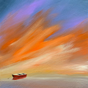"""Red Boat Sunset"" print by Thomas Andrew - ThomasAndrewArtwork"