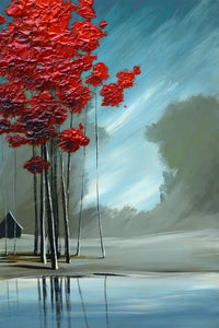 """Reds Down by the River"" Giclee canvas print by Thomas Andrew - Thomasandrewartwork"