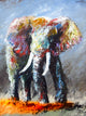 """Reigning Over the Orange"" (Elephant series) - Signed print by Thomas Andrew - Thomasandrewartwork"
