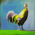 """Funky Rooster"" #2 / Giclee canvas print by Thomas Andrew"