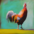 """Funky Rooster"" #1 / Giclee canvas print by Thomas Andrew"