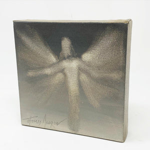 Sepia Angel / Open Arms / Original 6 x 6 Painting