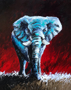 """Strength Like No Other"" (Elephant series) - Signed print by Thomas Andrew - Thomasandrewartwork"