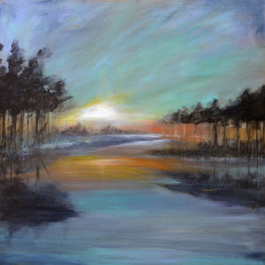 """Sunrise on Still Waters"" print by Thomas Andrew - Thomasandrewartwork"