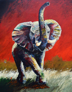 """The Dynasty Continues"" (Elephant series) - Signed print by Thomas Andrew - Thomasandrewartwork"