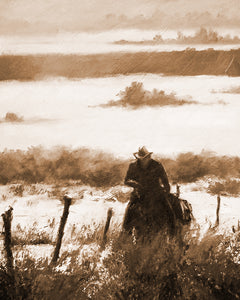 """The First Journey"" Rustic / Giclee canvas print by Thomas Andrew - Thomasandrewartwork"