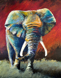 """The Path to Glory"" (Elephant series) - Signed print by Thomas Andrew - Thomasandrewartwork"