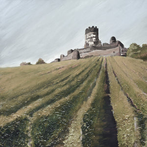 """The Castle Above the Vineyard"" Desat / print by Thomas Andrew - Thomasandrewartwork"