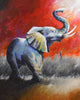 """When the Chimes Toll, the Battle Begins"" (Elephants series) - Signed print by Thomas Andrew - Thomasandrewartwork"