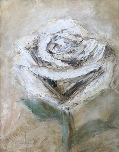 """White Rose"" Giclee canvas print by Thomas Andrew - Thomasandrewartwork"