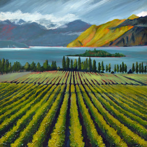"""Wine Country #14"" Giclee canvas print by Thomas Andrew - Thomasandrewartwork"