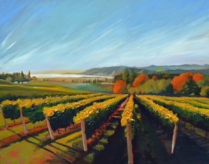 """Wine Country #18"" Giclee canvas print by Thomas Andrew - Thomasandrewartwork"