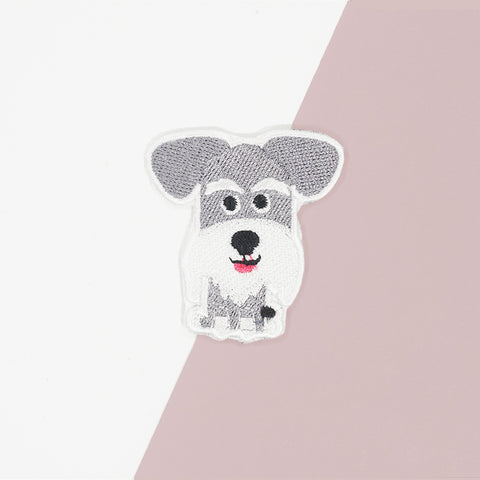 Schnauzer Iron On Patch